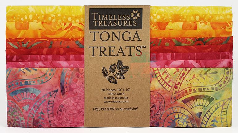 Tonga Treat Shortcake Batik Rio (20 - 10 Inch Squares) - Timeless Treasures