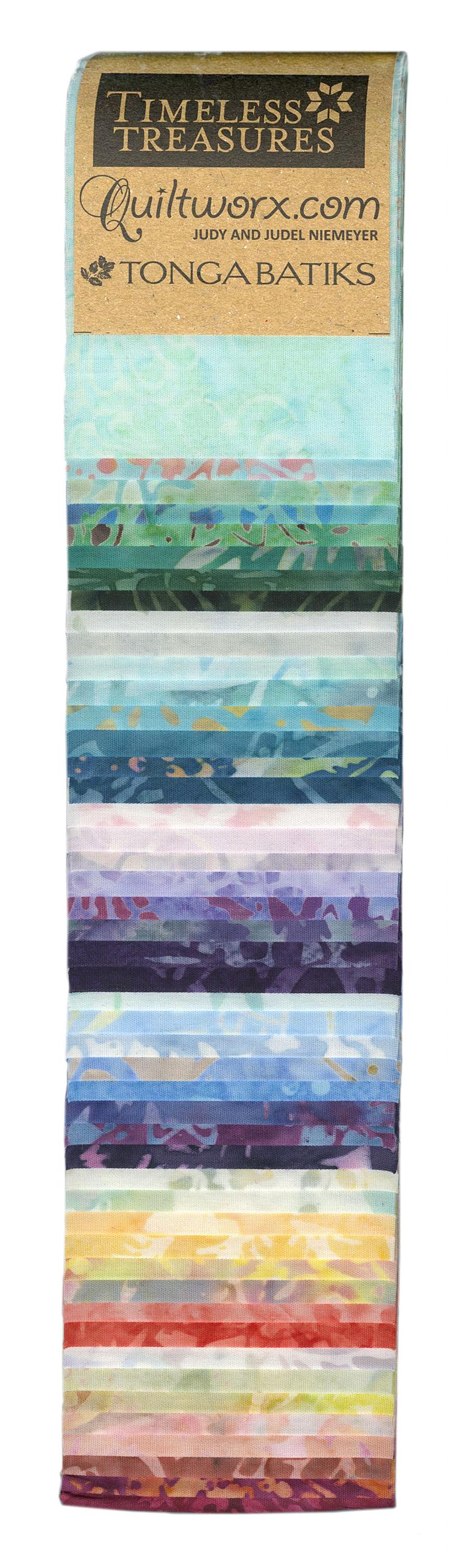 2-1/2 in Strips Tonga Batik<br>Taffy 48pcs/bundle