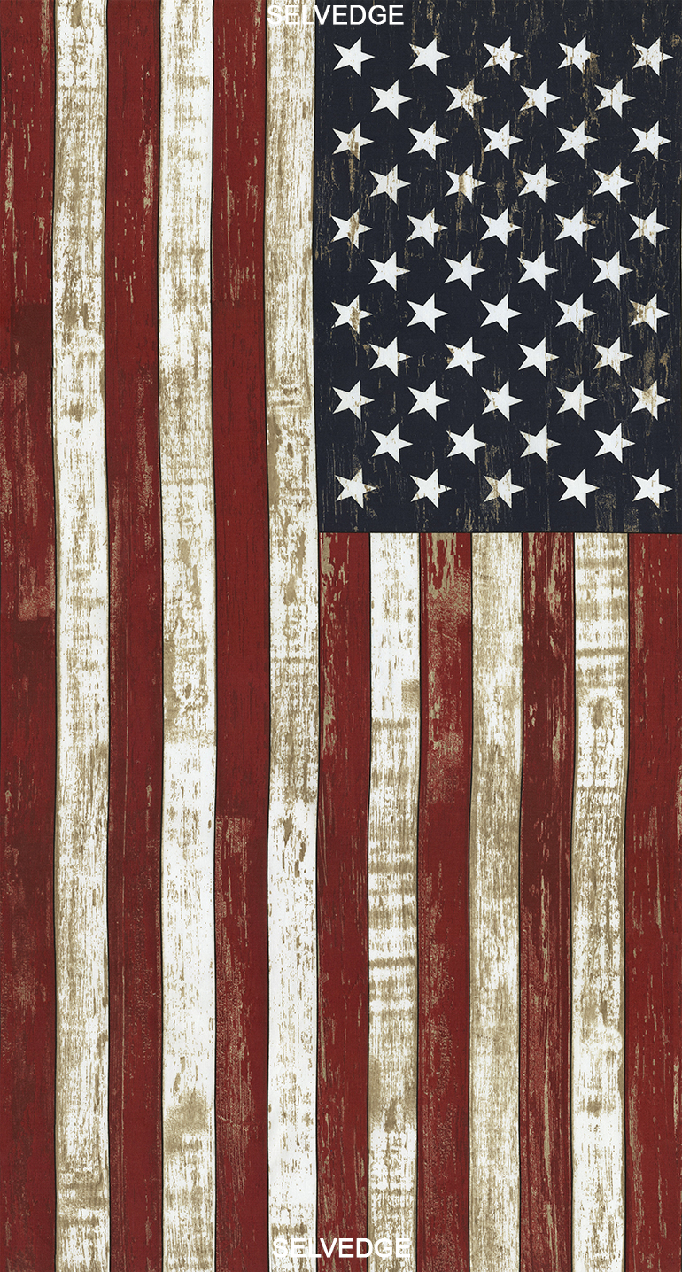 American Flag Panel 24 by Timeless Treasures