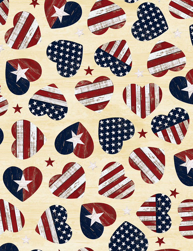 American Flag Hearts