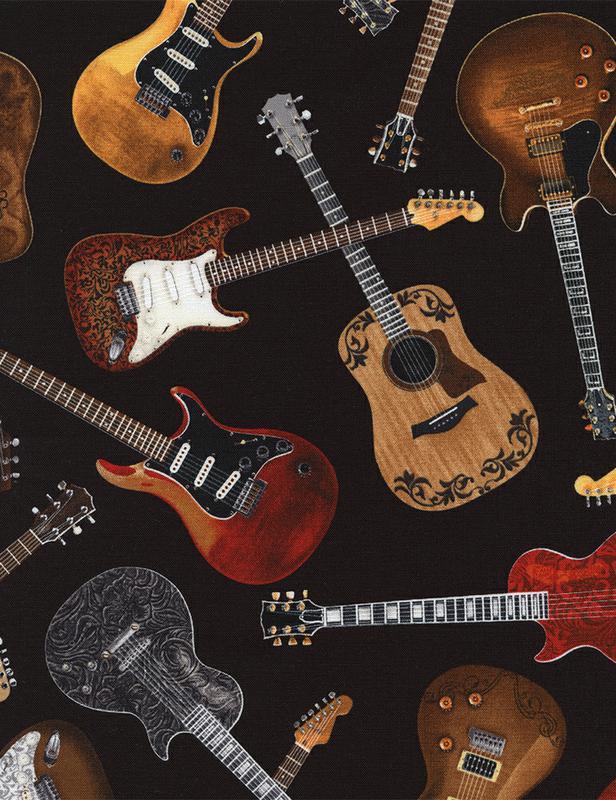 Black Tossed Guitars