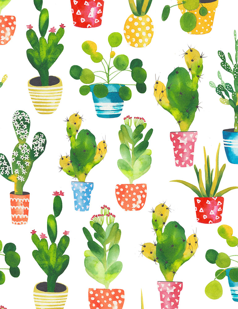 Potted Cacti Fabric