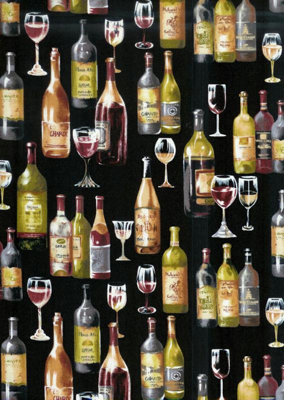 Wine Bottles Black