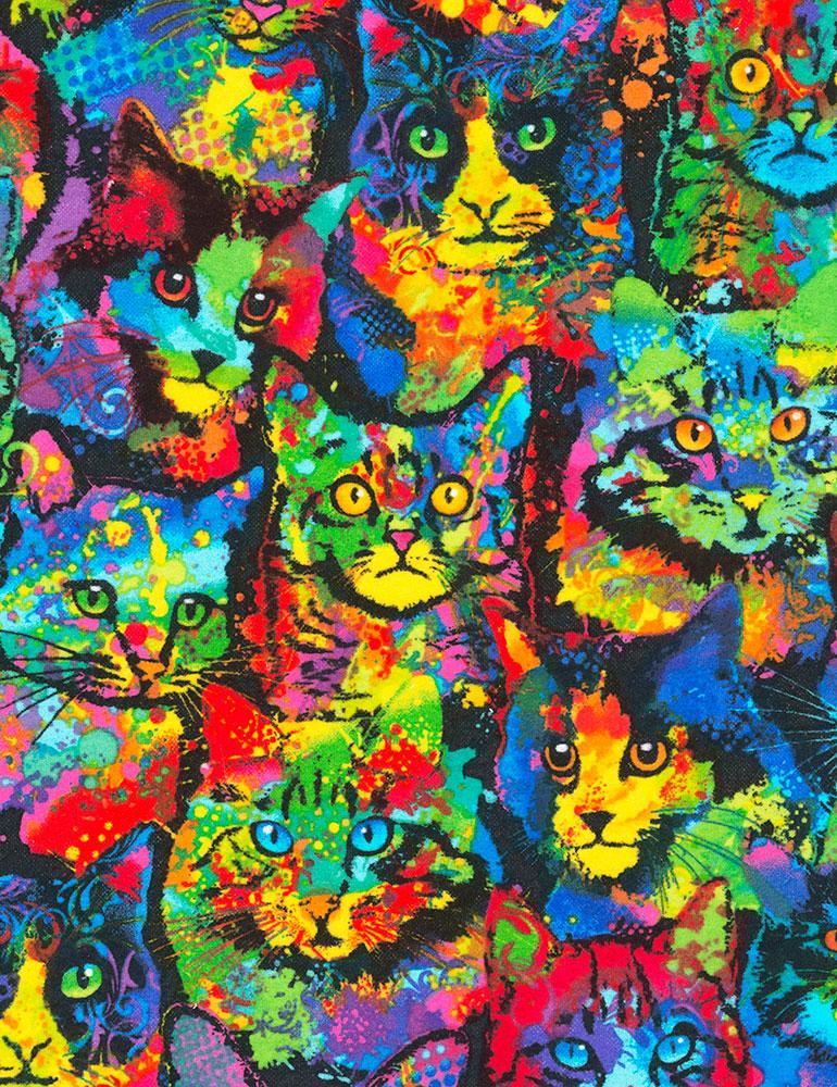 TT- Paint Splatter Cats Knit