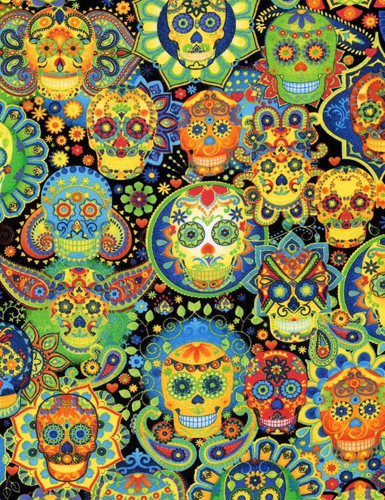 Bright Sugar Skulls
