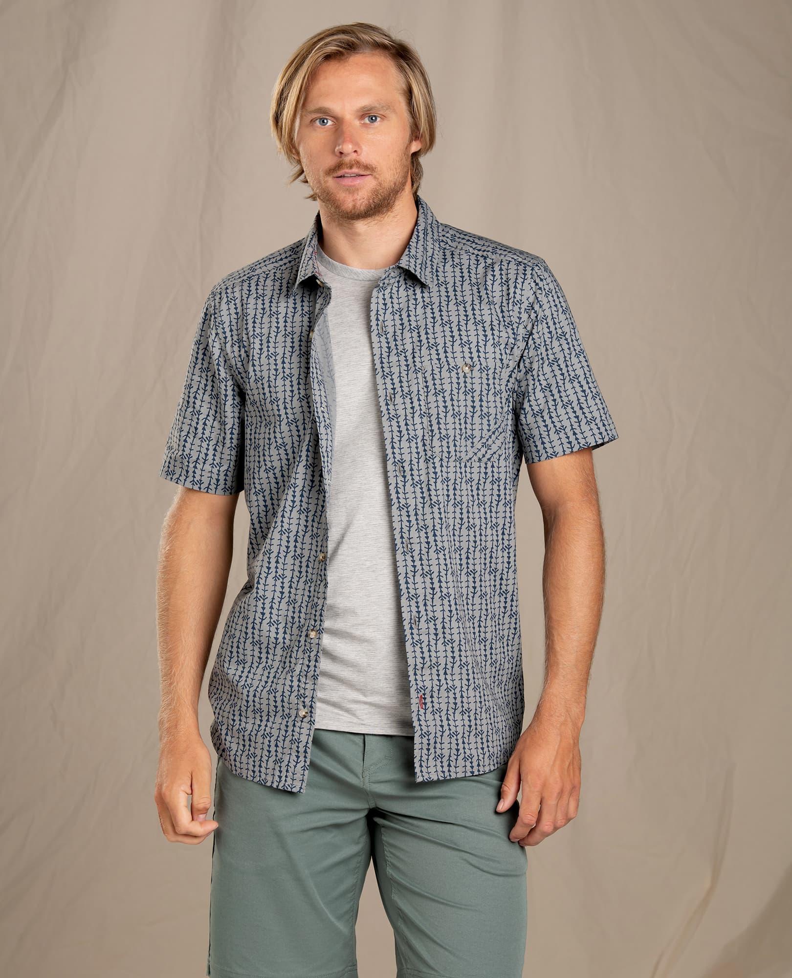 Toad & Co M's Fletch Print SS Shirt