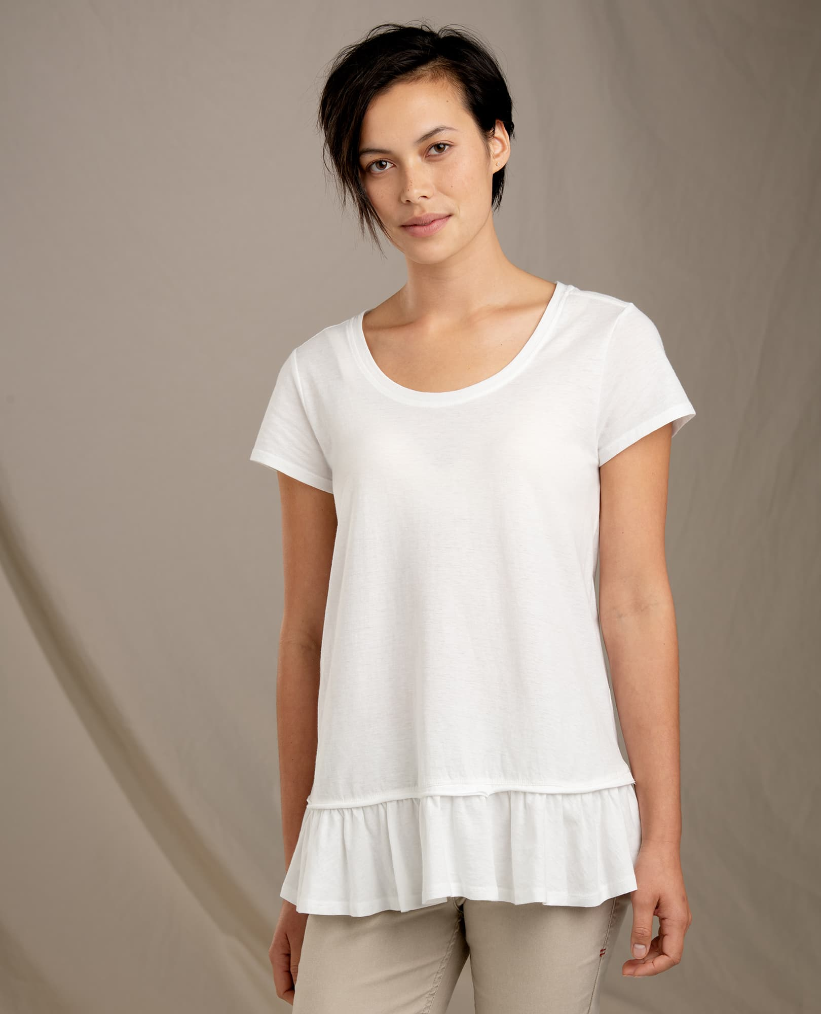 Toad & Co W's Tissue Peplum SS Tee