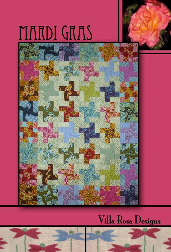 Mardi Gras Quilt Pattern Card