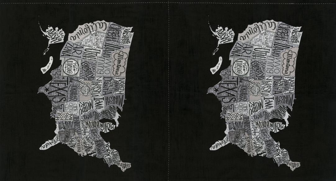 Metropolis Panel 24 x 44 USA States
