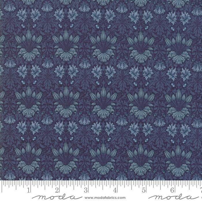 May Morris Studio Indigo - 7342-16 - Tulip1900