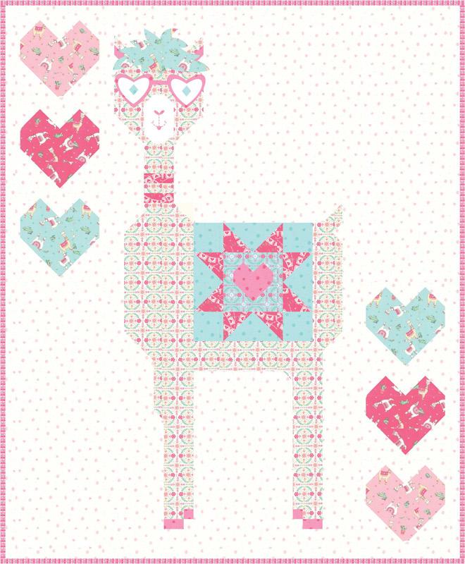 Llama Love - 46 x 56 Quilt Kit - by Deb Strain for Moda Fabrics