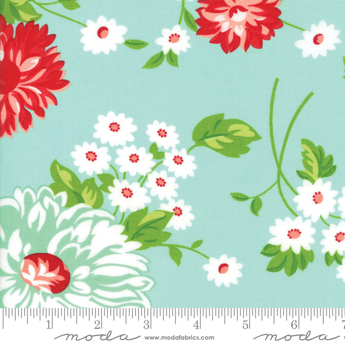 The Good Life by Bonnie and Camille in Aqua Scrumptious Floral