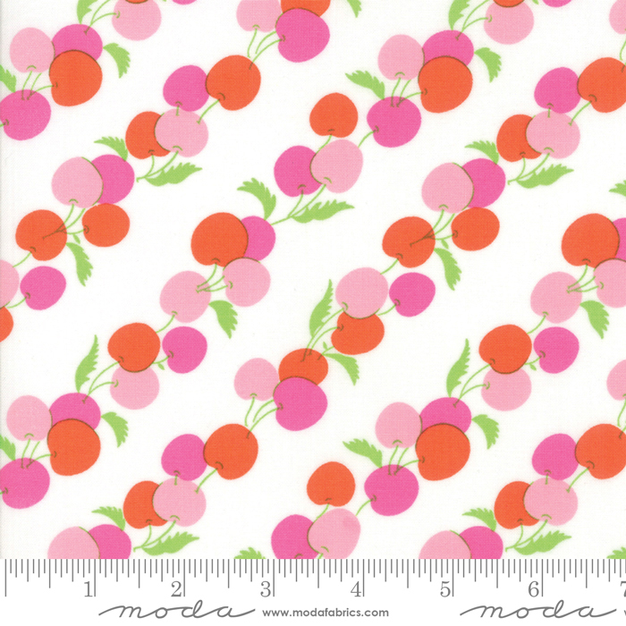 Moda Badda Bing Cherry Stripe White Pink