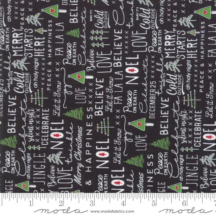 Merry Starts Here-Noel-Black