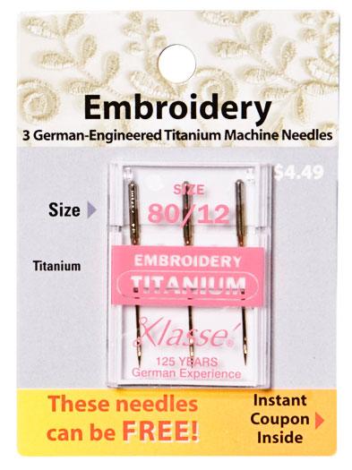 KLASSE Titanium Embroidry Needle 80/12