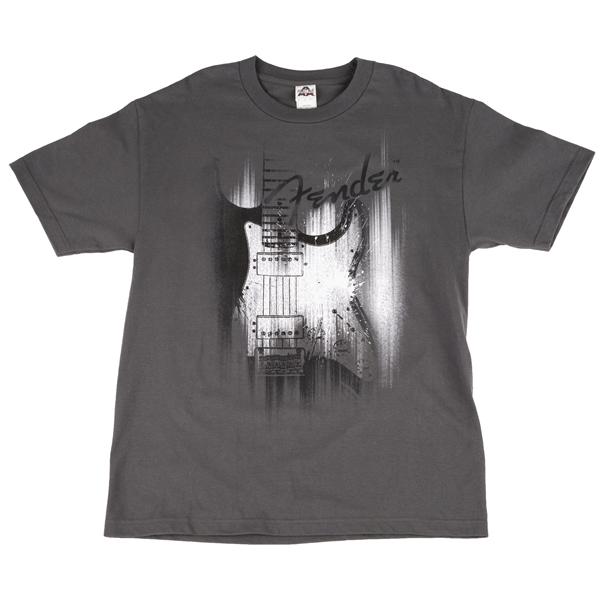 Fender Airbrushed Stratocaster Gray T-Shirt