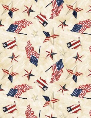 American Valor Patriotic Toss Tan 84430-231