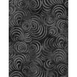 Whirpools Black Non-Batik 108 Wide Back Fabric