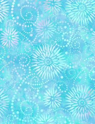 Wilmington Prints Essentials Flower 108 2084 441 Wide Quilt Back Turquoise