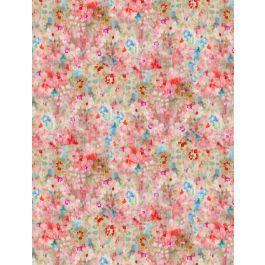 Wilmington Prints Bohemian Dreams Flower Texture Pink