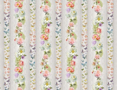 Butterfly Haven 89199 913 Repeating Stripe Multi