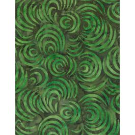 Batik Green Swirls