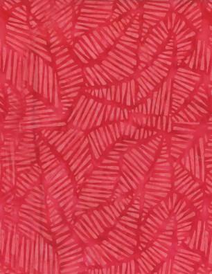 Stylized Puzzle Dark Pink Batik