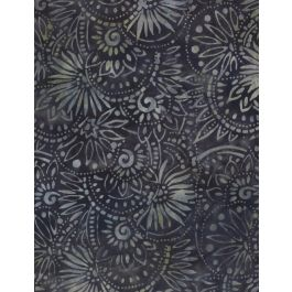 batik floral Medellians Dk Grey