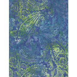 Batik Delicate Paisley Blue