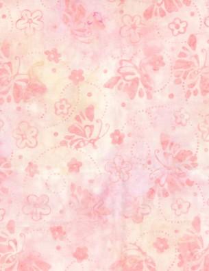 22205 331 Lt Pink Butterflies & Rings Wilmington Batiks