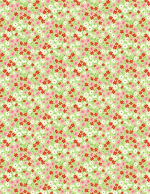 Green background Red and White Flowers 1458 19909 713