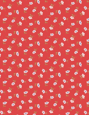 Simple Floral Red by Wilmington Prints