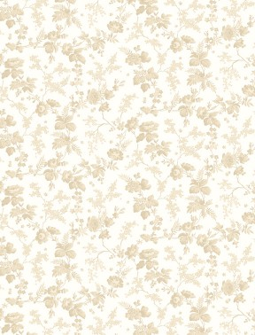 WIlmington Rhapsody in Reds Floral - Cream (Min. order of 1 metre)
