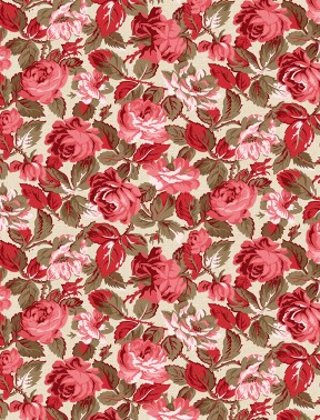 RHAPSODY IN RED TONAL FLORAL IVORY98652 132