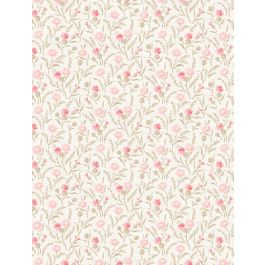 Rhapsody in Reds by Kaye England 98653-123 Cream & Pink