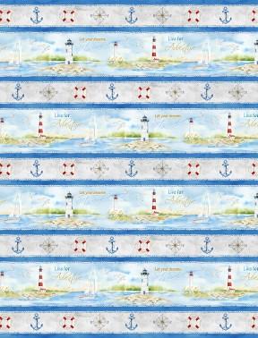 Harbor Lights Repeating Stripe