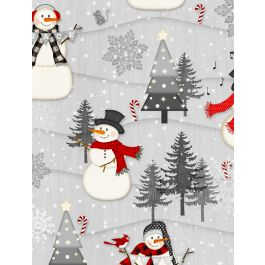 Snowy Wishes Scenic Scene Gray 82569-931