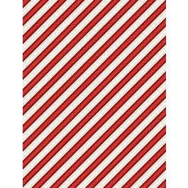 Snowy Wishes Red Ticking Stripe 82572-321