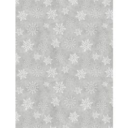 Snowy Wishes Grey Snowflakes 82574-919