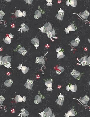 Winter Gnomes Black Tossed Animals