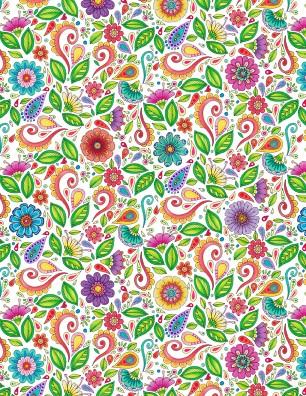 Rainbow Flight Floral & Scrl