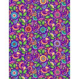 Rainbow Flight 77644 675 Small Floral & Scroll Purple
