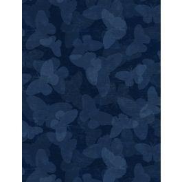 Wilmington Prints - Tonal Butterflies - Navy - 68453 - 444