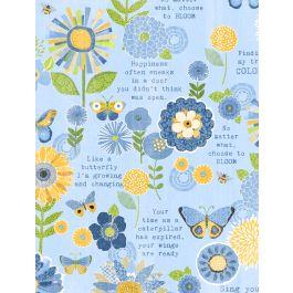 SING YOUR SONG BLUE W/ FLOWER & BUTTERFLIES 68458-445