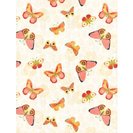 SING YOUR SONG CREAM WITH BUTTERFLIES 68460-535