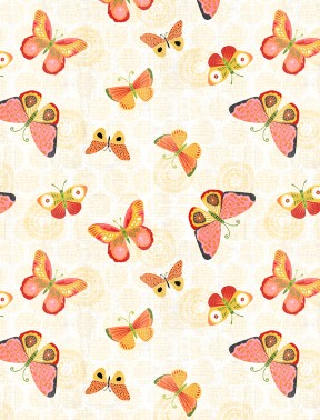 Sing Your Song Light Yellow Butterflies 68460-535