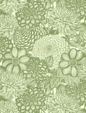 Floral Toile Green
