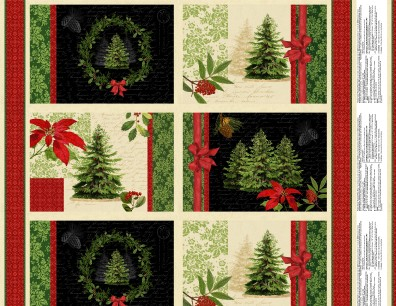 Multi Festive Forest Placemat Panel
