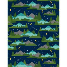 Gone Glamping Mountains and Trees Blue