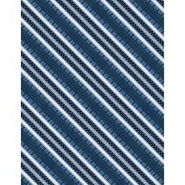 Lake Life Diagonal Stripe Blue